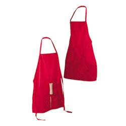 Hide n seek peni-popper party apron (red)