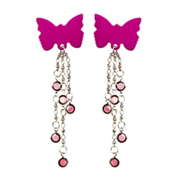 Body charms butterfly (pink) - body jewelry