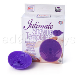 Intimate shaving template purple - sensual kit