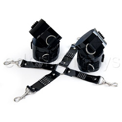 Bound by diamonds hog tie - cuffs