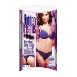 Vibrating lace thong - strap-on vibrator