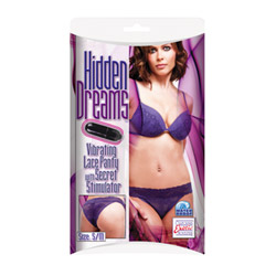 Vibrating lace panty - strap-on vibrator