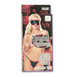 Leather blindfold and panty - DVD