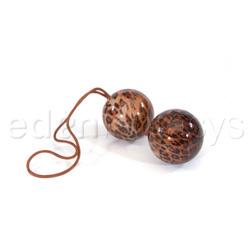 Tera Patrick's leopard duotone balls - Vaginal balls