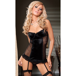 Black Sophia chemise and thong