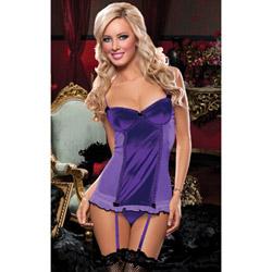 Purple Sophia chemise and thong