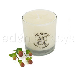 White tumbler - Candle