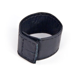 Cock ring - Leather cock ring with velcro closure - view #2