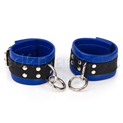 Black and blue medium restraints - cuffs