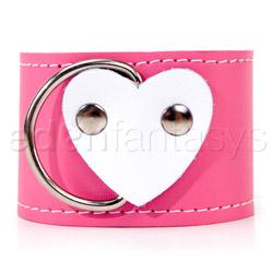Wrist cuffs - Pink heart wrist restraints - view #3