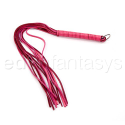 Pinkline leather whip - flogging toy