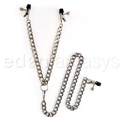 Y-Style clamps with clit clamp - y style clit and nipple clamps