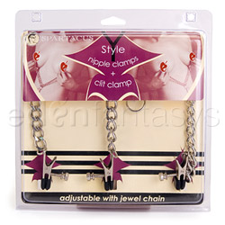 Y style clit and nipple clamps - Y-Style clamps with clit clamp - view #4