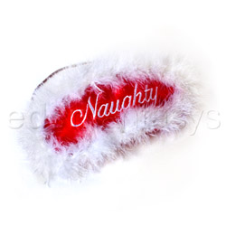 Reversible naughty or nice mask - headgear