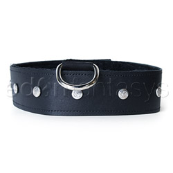 Collar  - Leather leash and collar - view #2