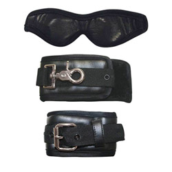 Cuffs and blindfold set - Sexperiments ties that bind - view #1