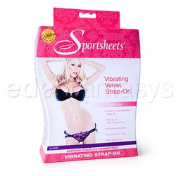 Correas de doble cuerda - Vibrating velvet harness - view #7
