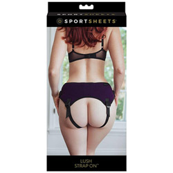 Double strap harness with back support - Lush strap on - view #3