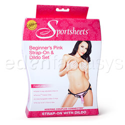 Harness and dildo set - Sedeux beginner's pink strap-on and dildo kit - view #4