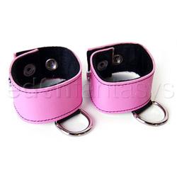 Blush wrist cuffs
