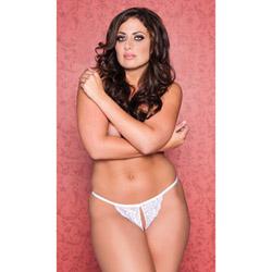 Tina white g-string - sexy panty