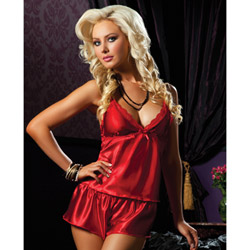 Red flawless cami and short - camisole set