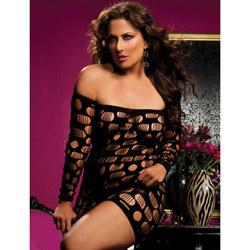 Flirtatious long sleeve dress - mini dress