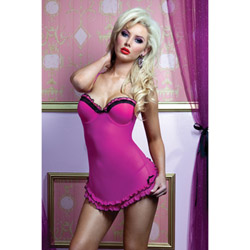 La bella vida babydoll and g-string - babydoll and panty set