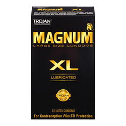Male condom - Trojan Magnum XL 12 pack - view #1