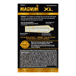 Male condom - Trojan Magnum XL (12 PACK) - view #2
