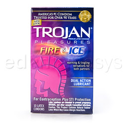 Trojan pleasures fire & ice - male condom