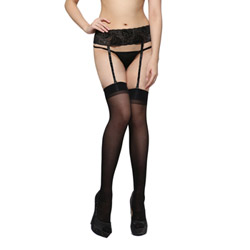 Irresistible Temptation 07 sheer garter stockings