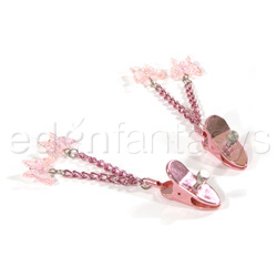 Precious gems butterfly nipple jewelry - Nipple clamps