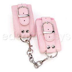 Wrist cuffs - Pink plush wrist cuffs - view #2