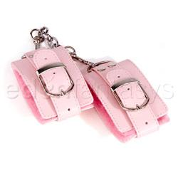 Wrist cuffs - Pink plush wrist cuffs - view #3