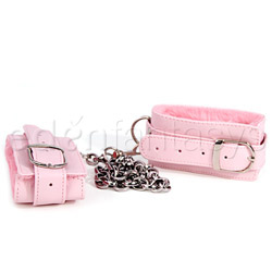 Pink plush ankle cuffs - sex toy