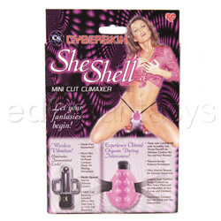 Strap-on vibrator - Cyberskin she shell - view #5