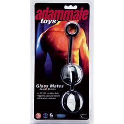Anal balls  - Adammale toys glass mates anal balls - view #2