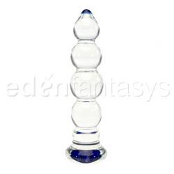 Dildo de vidrio - Heavy bulbous blue head - view #1
