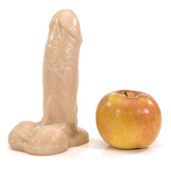Realistic dildo with balls - Lone star - view #4