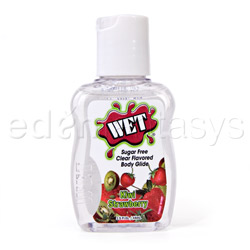 Flavored gel lubricant