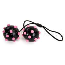 Joanna Angel's spiked duotone balls - vaginal balls