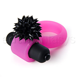Cock ring - Spiked silicone vibrating cock ring - view #3