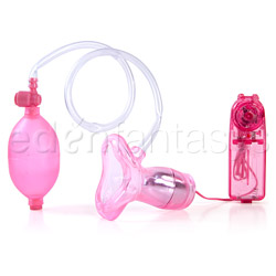 Vibrating suction lips - clitoral stimulator