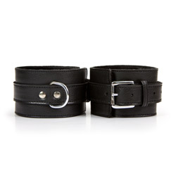 Ankle cuffs with buckle - Leather ankle cuffs - view #3