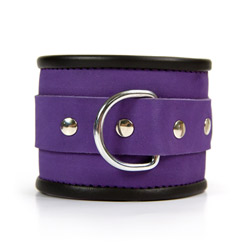 Handcuffs with buckle - Purple hand cuffs - view #3
