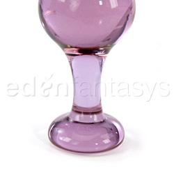 Glass plug  - Violet moon plug - view #3