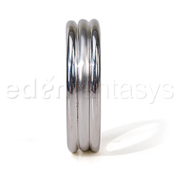 Cock ring - Silver ribbed cock ring - view #2
