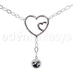 Body jewelry - Double hearts belly chain - view #1