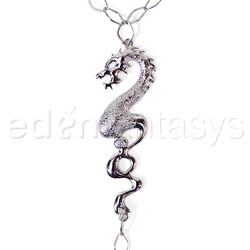 Body jewelry - Silver dragon body chain - view #2